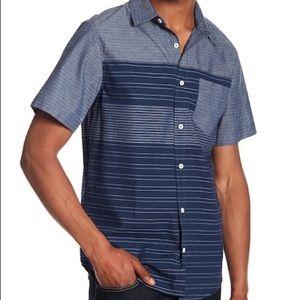Men public opinion short sleeve button down shirt